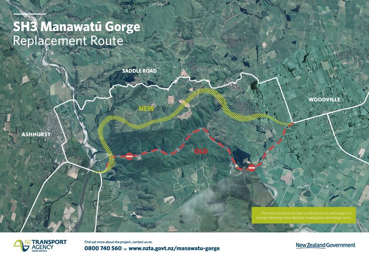 Preferred option for SH3 Manawatū Gorge replacement announced