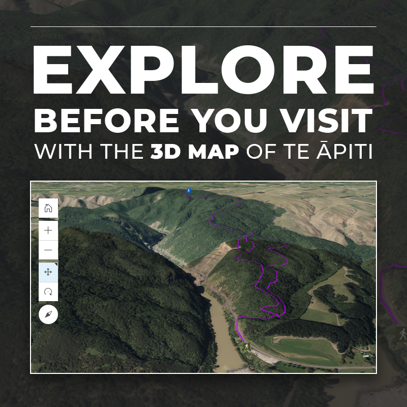 Explore before you visit te apiti - 3D Map