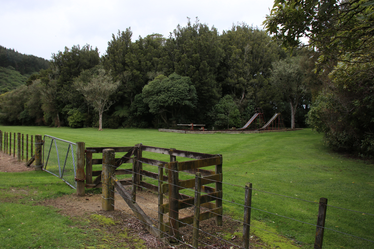 Ballance Domain playground view from the road, 2019